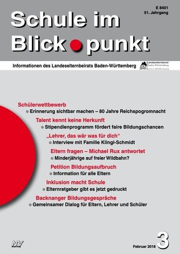 SiB, Schuljahr 2017/18, Nr 3, Februar 2018, Backnanger Bildungsgespräche