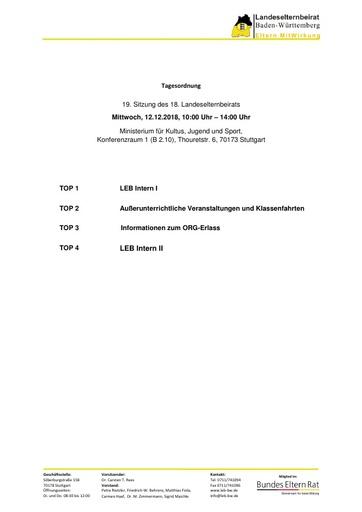 Tagesordnung 12.12.2018