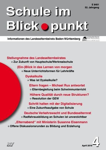 SiB, Schuljahr 2018/19, Nr 4, April 2019, DVW und Bundeselternrat