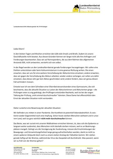 Aktualisierte Info zu Corona etc. 30.03.2020