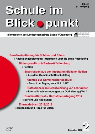 SiB, Schuljahr 2017/18, Nr 2, Dezember 2017, Die professionelle Weiterentwicklung von Lehrkräften, Teil 1