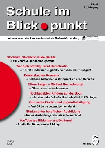 "SiB, Schuljahr 2018/19, Nr 6, Juli 2019, ""Stockbett, Stockbrot, wilde Nächte"""